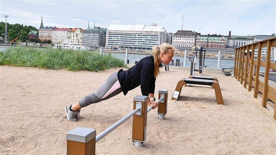 Fitness push-up lappset